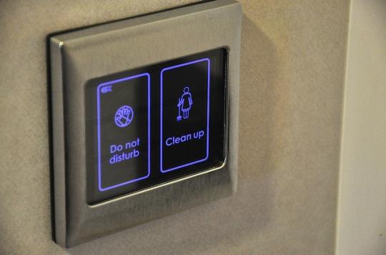 房門口的電子顯示器