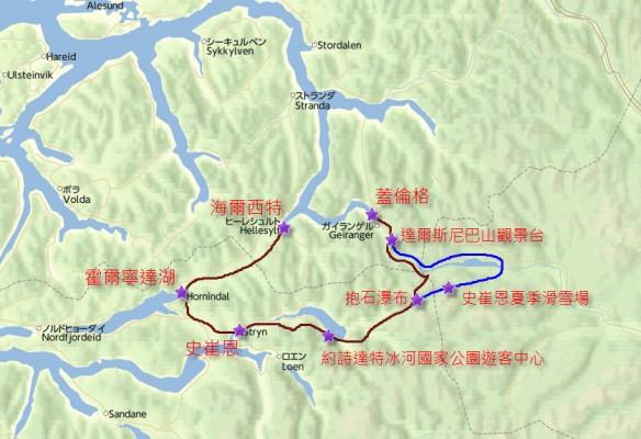 Map - Geiranger Tour