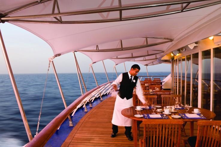 La Terrazza with waiter