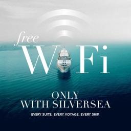 【頂級郵輪】Silversea 提供所有乘客無限 WIFI 上網服務